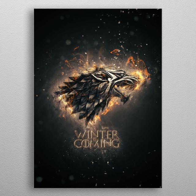 winter in coming metal poster