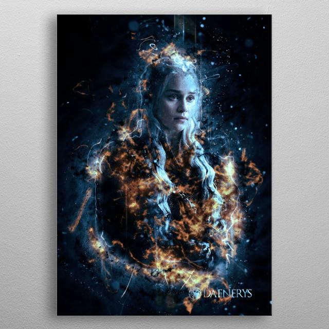 daenerys dragons metal poster