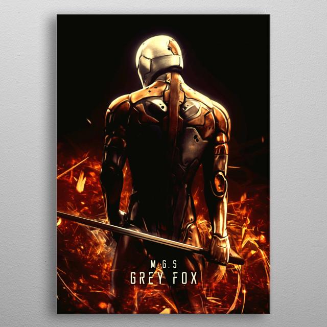 Grey Fox metal poster