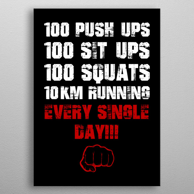 Daily Workout metal poster