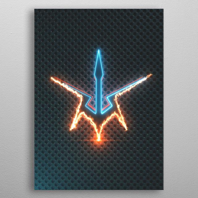 3D Code Geass Emblem  metal poster