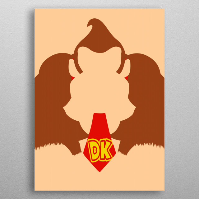 Donkey kong metal poster