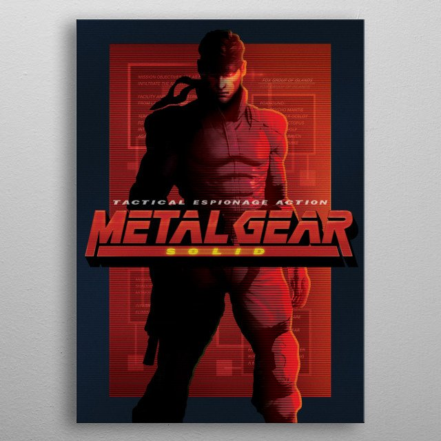 Metal Gear Solid: Shadow Moses Infiltration metal poster