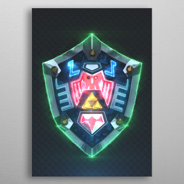 3D Hylian Shield Majora's Mask. metal poster