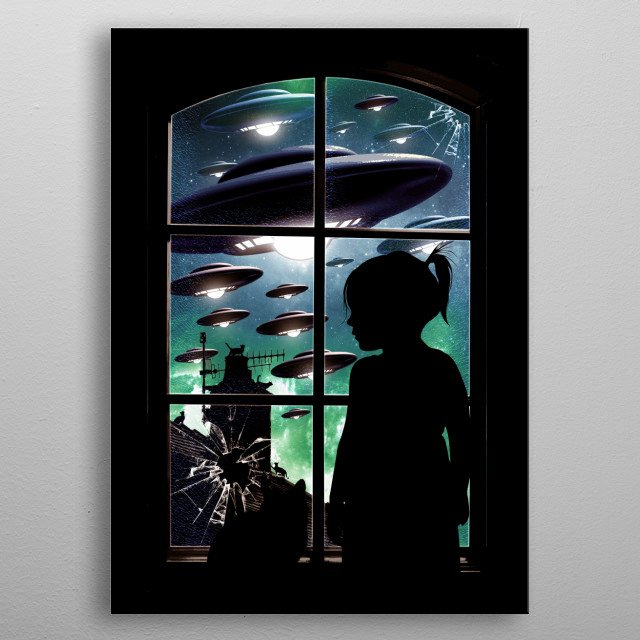 The Invasion  metal poster