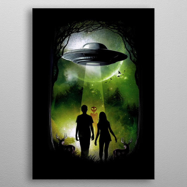 The visitor metal poster
