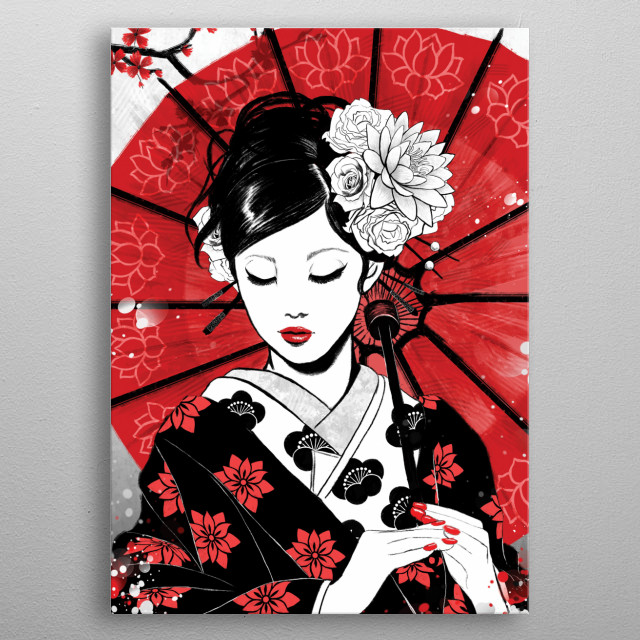 Geisha - RubyArt metal poster