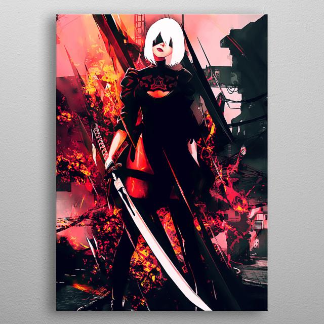 NieR Automata metal poster