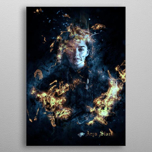 Arya Stark metal poster