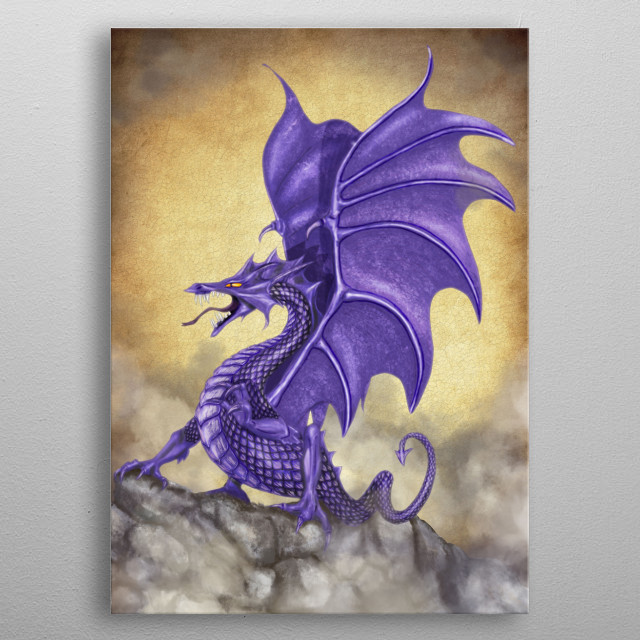 Ultra Violet Dragon metal poster
