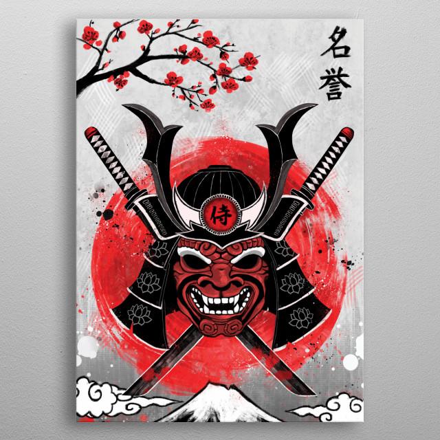 Samurai - RubyArt metal poster