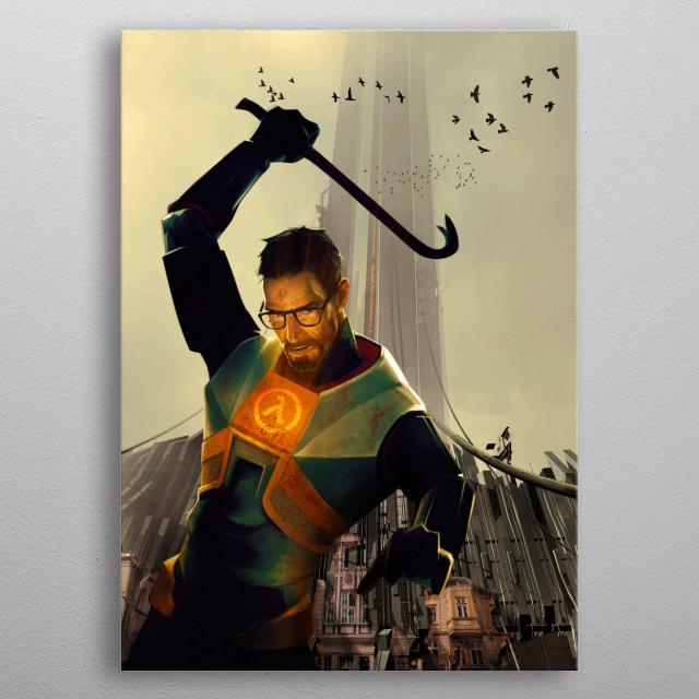 Gordon Freeman Returns Gaming Poster Print Metal Posters