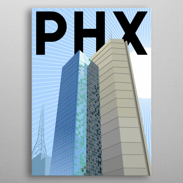 High-quality metal print from amazing Minimal Cities collection will bring unique style to your space and will show off your personality. metal poster