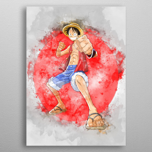 Luffy / OnePiece / WaterColor metal poster