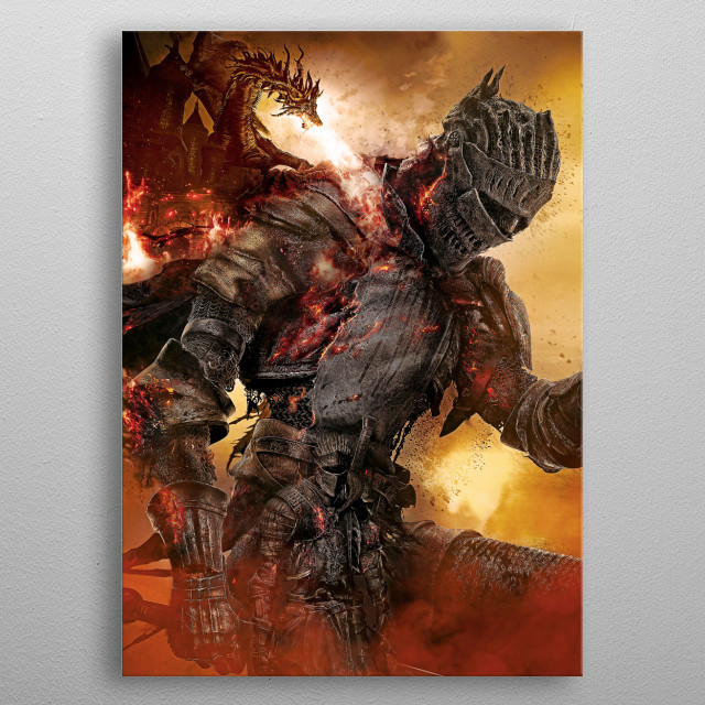 01 | Double Soul of Cinder | Dark Souls  metal poster