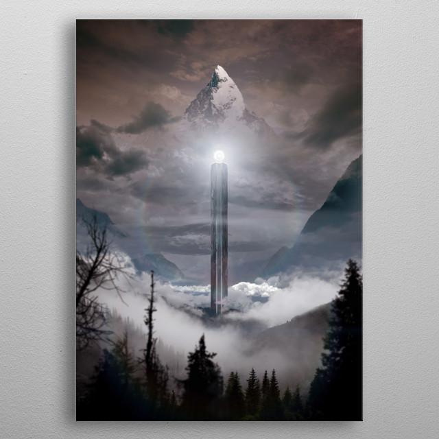 Obelisk metal poster