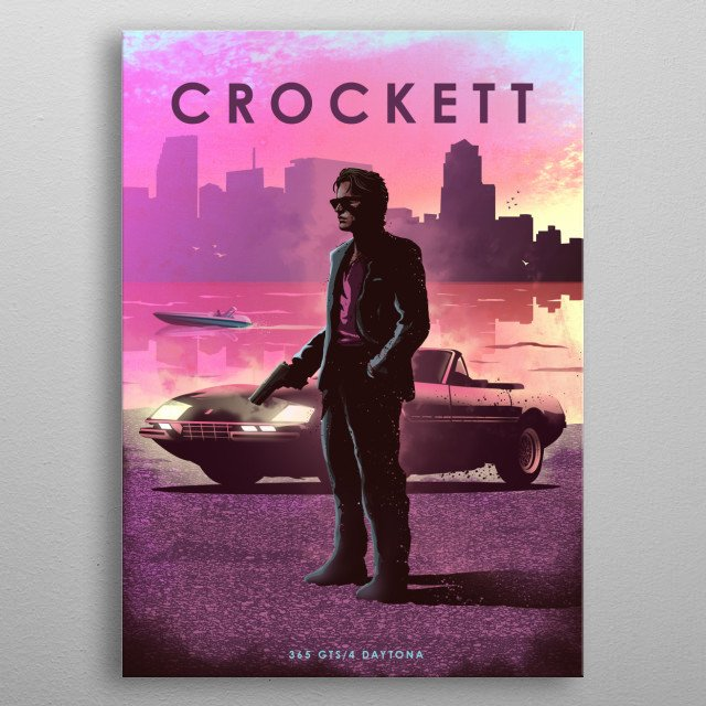 Crockett 365 GTS metal poster