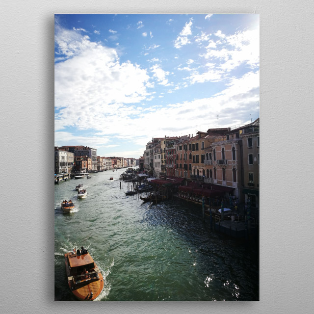 The Grand canal in Italy, Venice metal poster