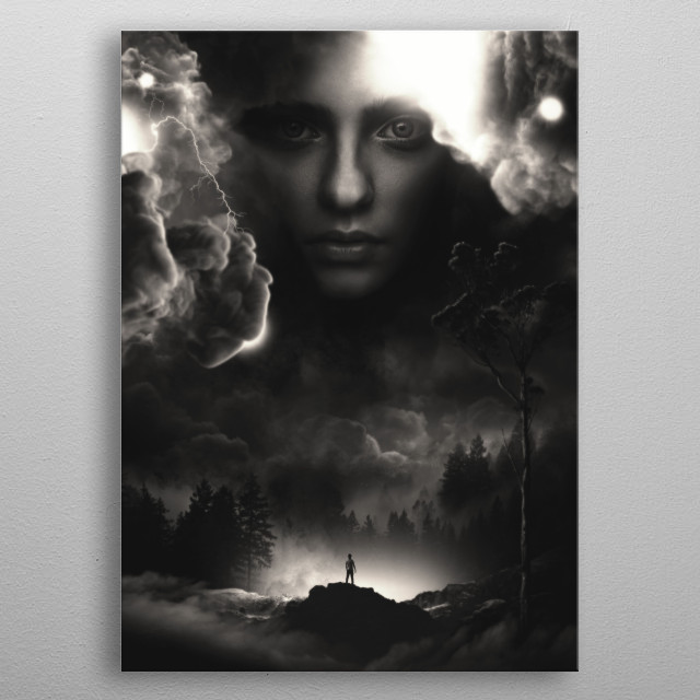 Meeting With The Horizon  metal poster