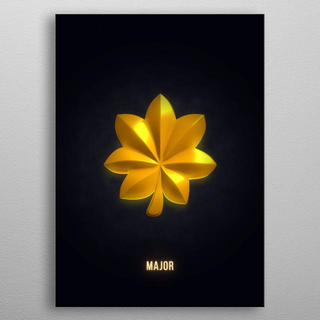 Major - Military Insignia 3D metal poster