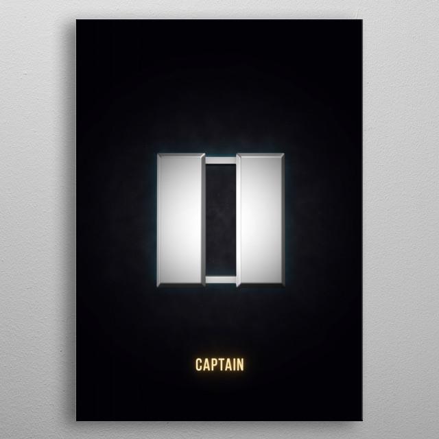 Captain - Military Insignia 3D metal poster
