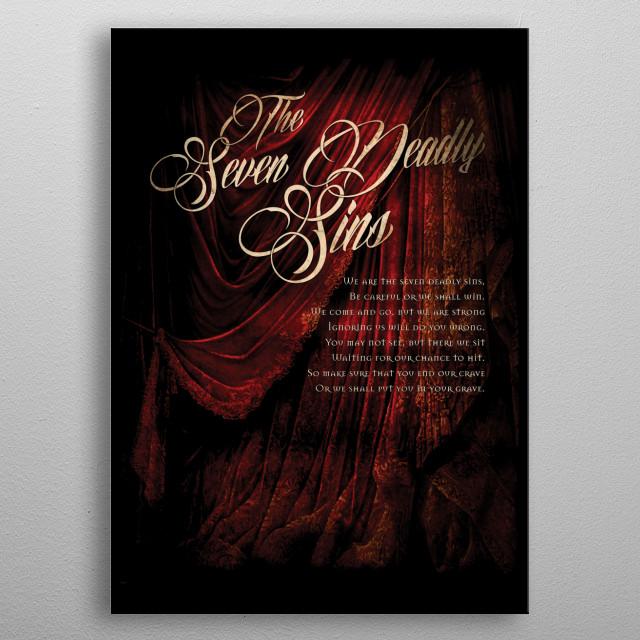 seven deadly sins Gluttony Wrath Envy Lust Pride  Sloth Gluttony FEB19 metal poster