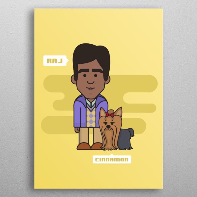 Raj & Cinnamon color background metal poster
