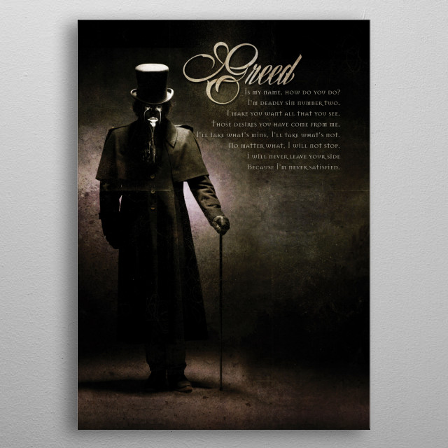 Greed metal poster