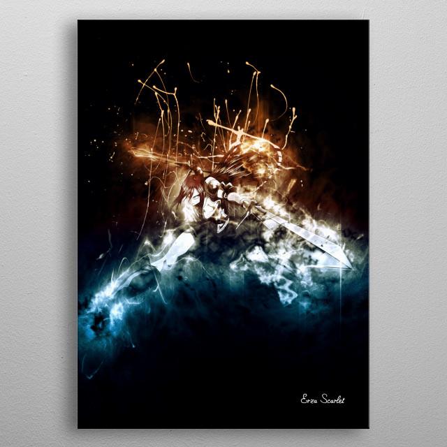 Erza Scarlet metal poster