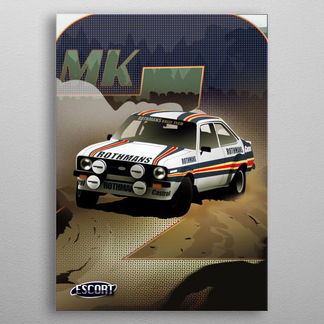 Ford Escort metal poster