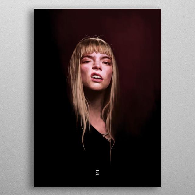 Anya Taylor-Joy metal poster