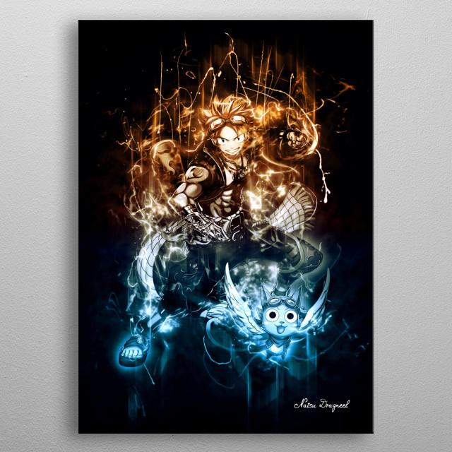Natsu Dragneel metal poster
