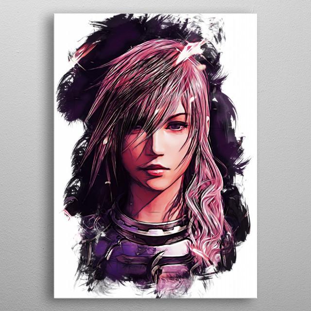 Lightning - sketch metal poster