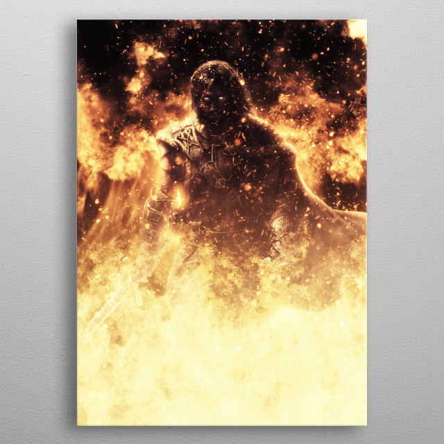 Talion Middle Earth metal poster
