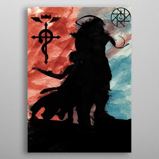 Red And Blue Alchemist metal poster