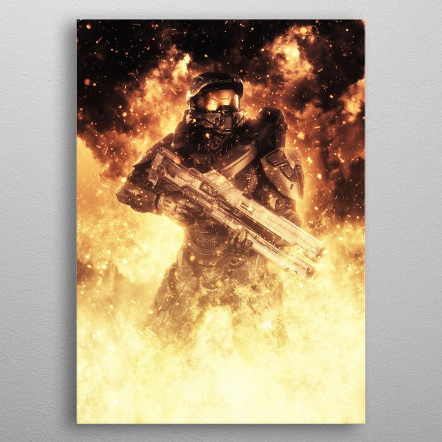 Master Chief Halo metal poster