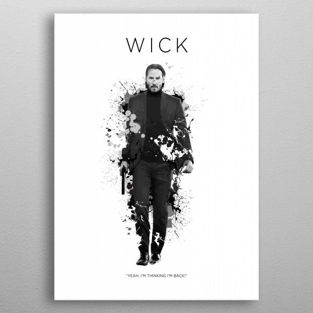 John Wick metal poster