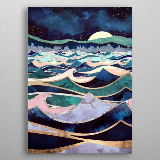 Moonlit Ocean metal poster