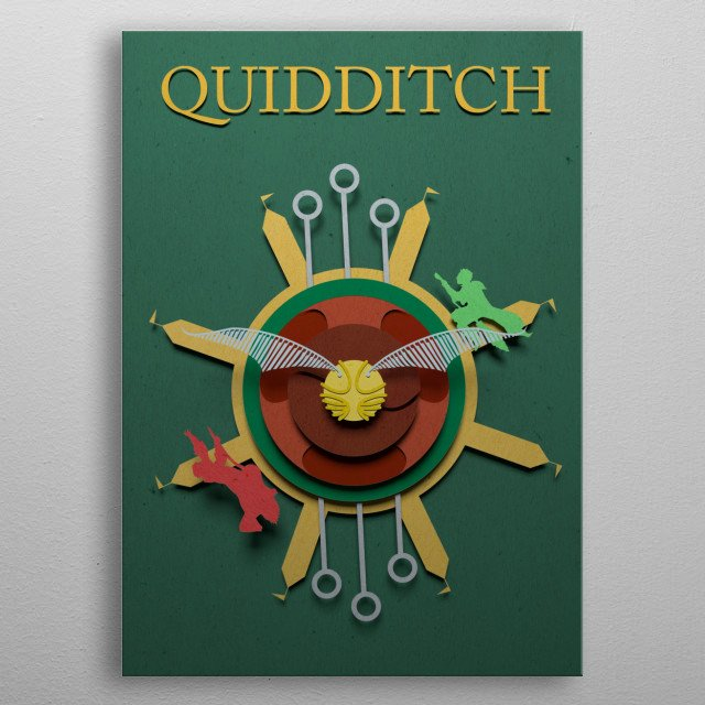 High-quality metal print from amazing Potterhead collection will bring unique style to your space and will show off your personality. metal poster