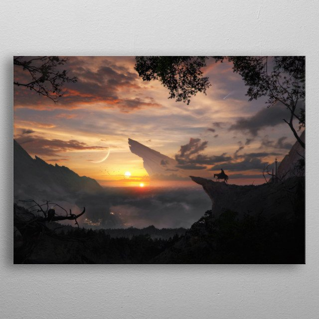 High-quality metal print from amazing Fantasy collection will bring unique style to your space and will show off your personality. metal poster