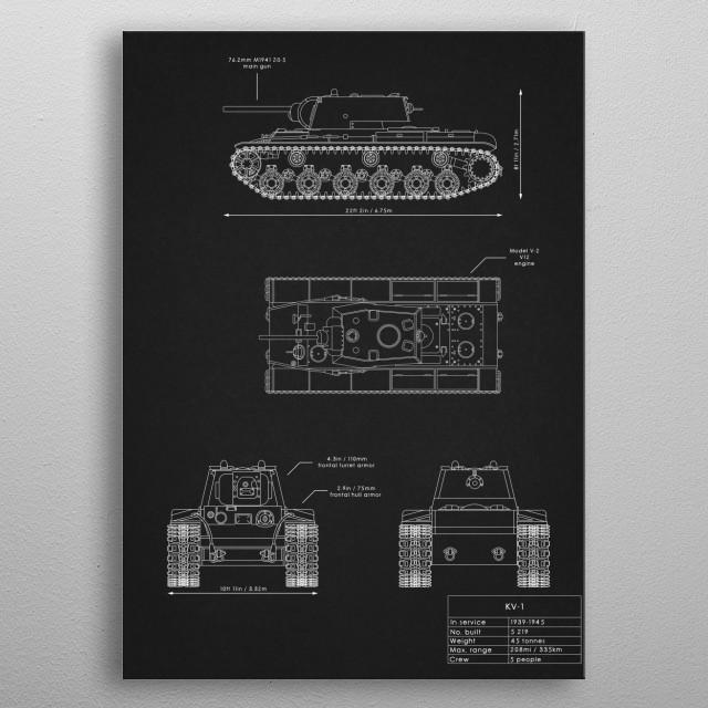 KV-1 metal poster