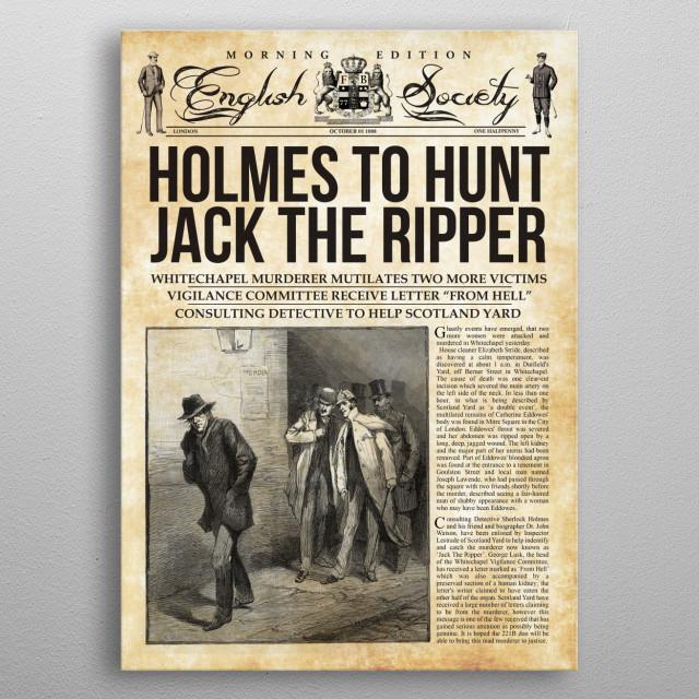 Holmes Hunts Jack The Ripper metal poster