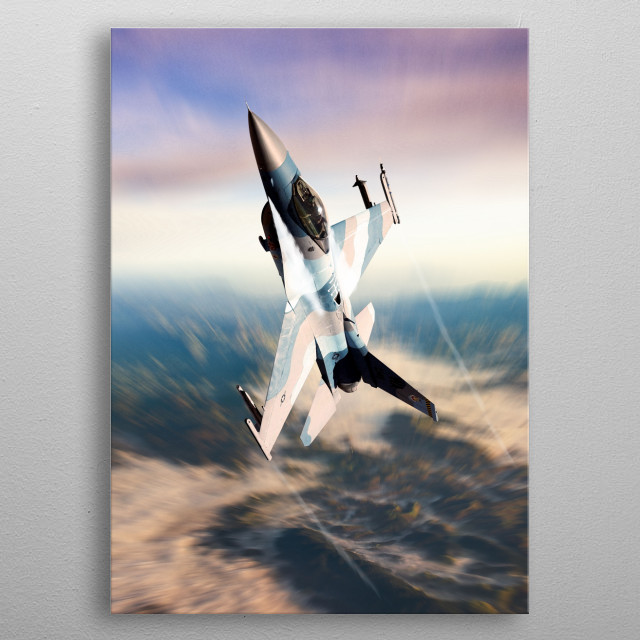 F16 Fighting Falcon metal poster