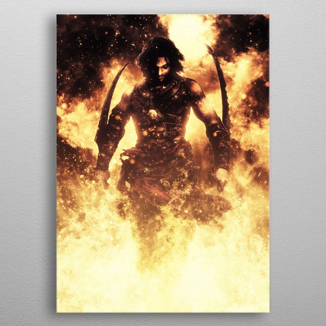 Prince of Persia Warrior Within metal poster