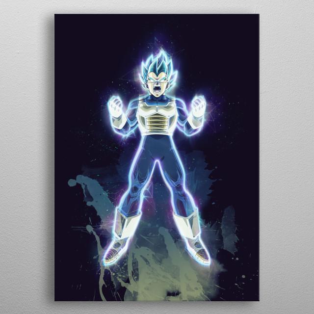 Vegeta saiyan god / Dragonball Z / Renegade  metal poster