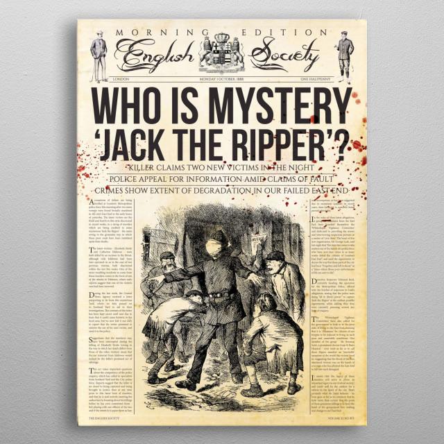 Jack The Ripper Newspaper metal poster