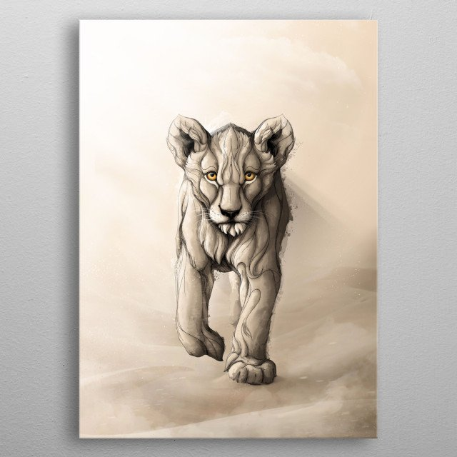 Little Lion metal poster