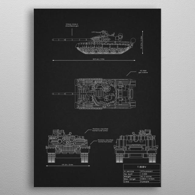 T-80BV metal poster