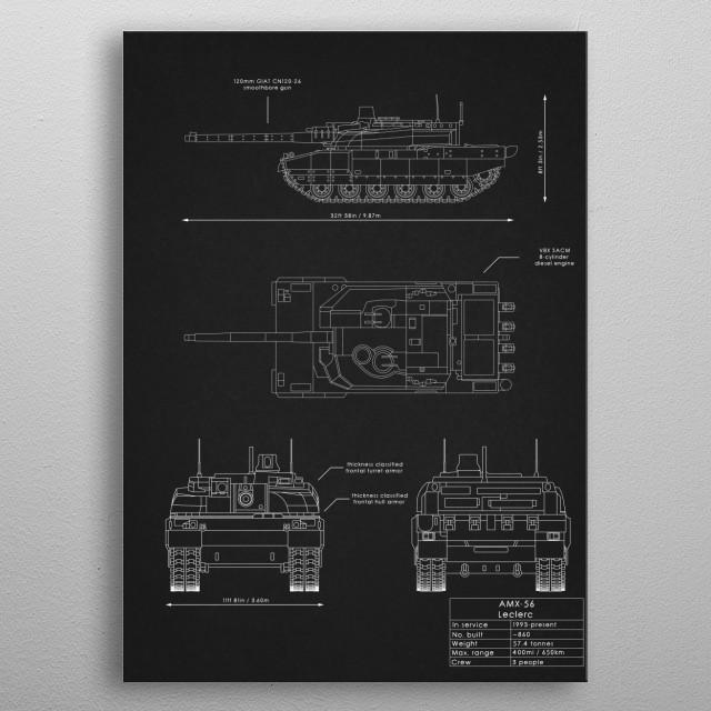 AMX-56 Leclerc metal poster