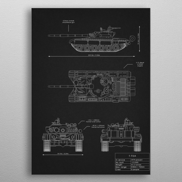 T-72A metal poster